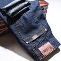 AirGracias Clássico calças de Brim Dos Homens Primavera Verão calças de Brim Magros Denim Calças de Algodão Calças de Marca de Alta Qualidade Calça Jeans Motociclista