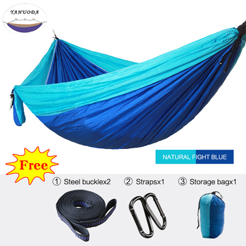 1-2 Person Portable Parachute Hammock High Strength Camping Travel Swing Bed Garden Leisure Outdoor Hunting Survival Hammock