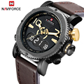 2017 new luxury brand naviforce deporte militar reloj de hora dual análogo de cuarzo de cuero de los hombres reloj digital de pulsera relogio masculino