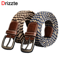 Drizzte Plus Size 110 150cm Men S Belt Strap Knitted Woven Band Large Size Trouser Pants