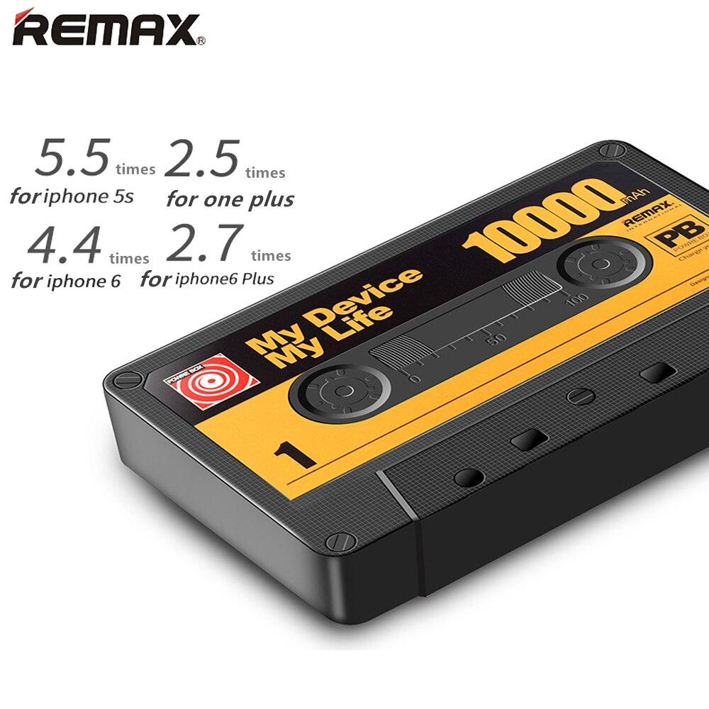 Remax 10000 mAh Projeto Fita Do Telefone Móvel Grande Capacidade Móvel Power Bank com saída usb duplo Extra de Backup com led lanterna