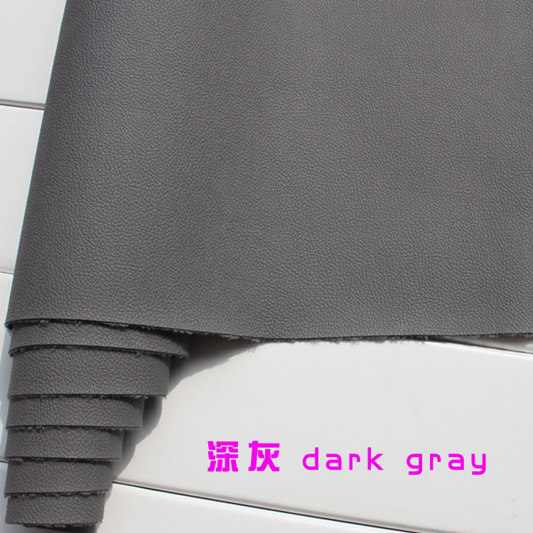 Dark Gray 1mm Thick Leather Faux Leather Fabric Car Interior Leather Car Seats Leather Cushion
