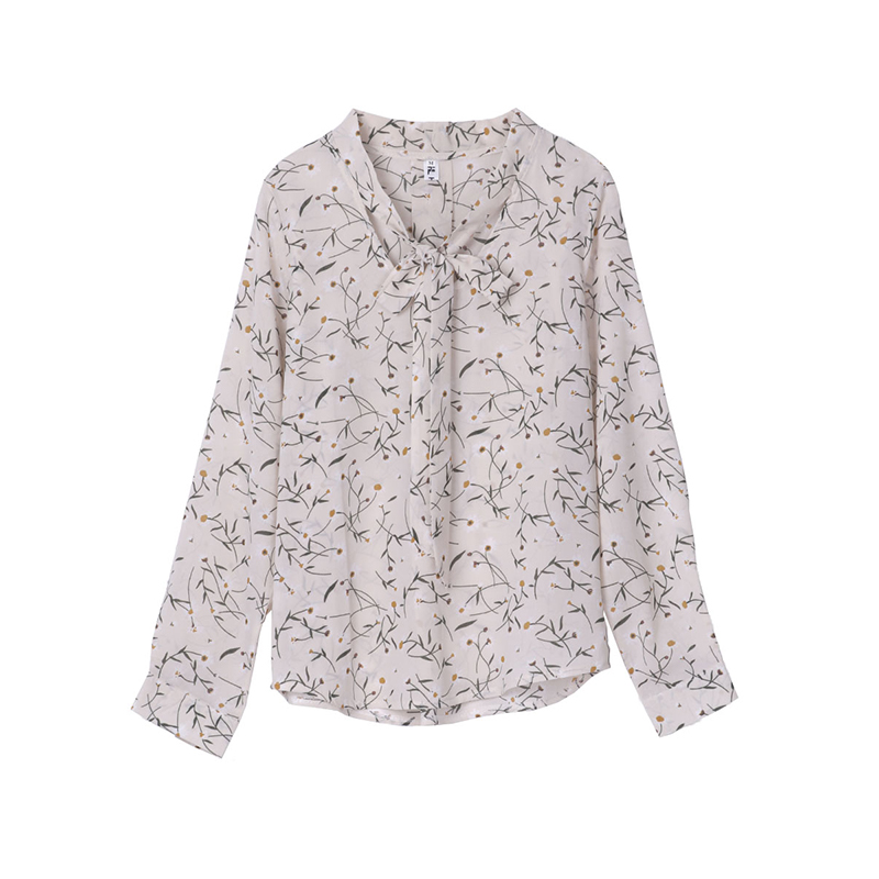 New Summer Fashion V Collar Lace Flower Shirt All Match Long Sleeved Chiffon Blouse HLN1047