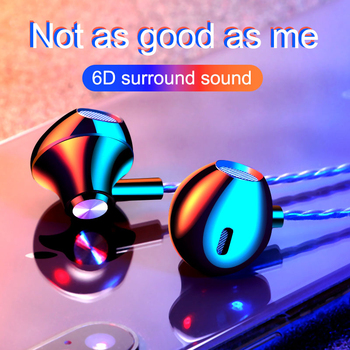 F10 In-Ear Earphone Sports Headphones HD Music Earbuds Stereo Gaming Mobile Phone Computer Tablet Cable Headset Wired Earphones