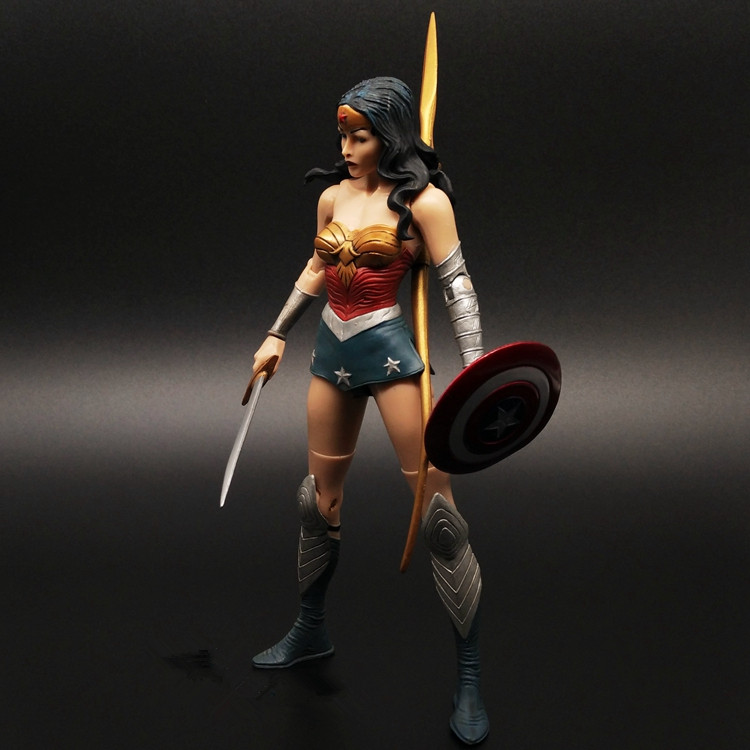 ФОТО wonder woman action figure justice league pvc toys 170mm anime movie collectible model toy batman v superman