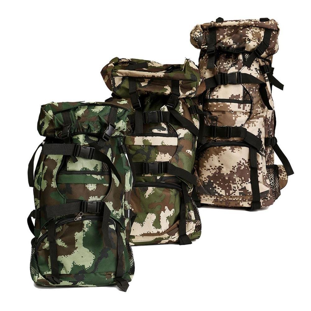 Outddoor hommes trekking rembourré Double sac à bandoulière bagages sac à dos 80L Camouflage Nylon sac à dos multi-usages grands sacs à dos