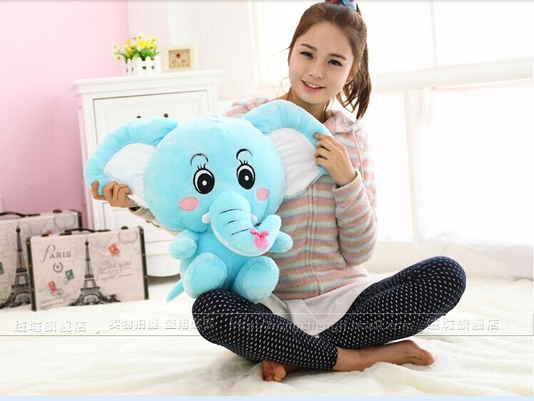 ФОТО lovely plush elephant toy elephant doll big long nose elephant doll gift doll about 50cm blue