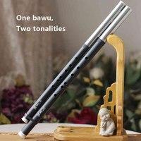 الصينية التقليدية الموسيقى أداة abs الراتنج bawu اثنين tonalities أنابيب ضبطها بدقة عرضية مزدوجة flauta مع دليل