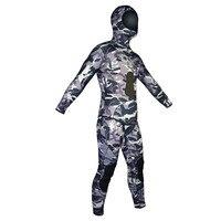 Layatone Гидрокостюмы мокрого типа мужские 7 мм Camo неопрена дайвинг костюм из двух частей Спорт кожи подводной охоты полный костюм Разделение к