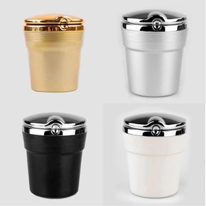 Image 2 - Car Ashtray with LED Light Cigarette Smoke Travel Remover Ash Cylinder Car Smokeless Smoke Cup Holder Auto Accessories