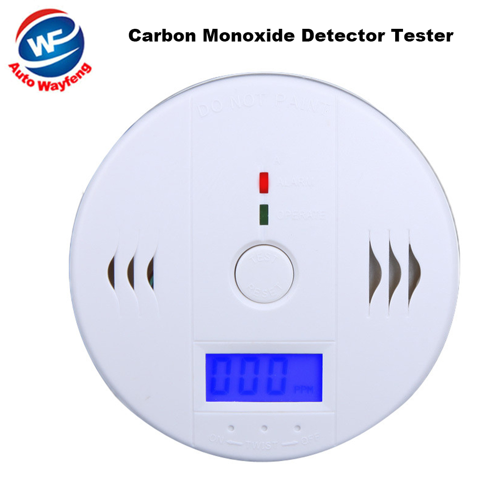 High Sensitive LCD Smoke CO Sensor Detector Carbon Monoxide Detector Tester Fire Alarm Monitor For Home Security Safety B