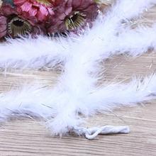 1 шт 2 ярдов/длина белый Боа Из Перьев Марабу перо боа с линией рождественские украшения для вечеринки сделанные своими руками перо боа