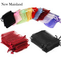 Fashion 100pcs /Bags , Multiple Colors Jewelry Bag 7x9CM Organza Jewelry Packaging Display & Jewelry Pouches Free Shipping