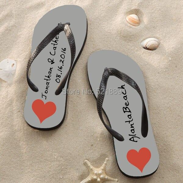 2c7b890aea477f Beach wedding flip flops for guests