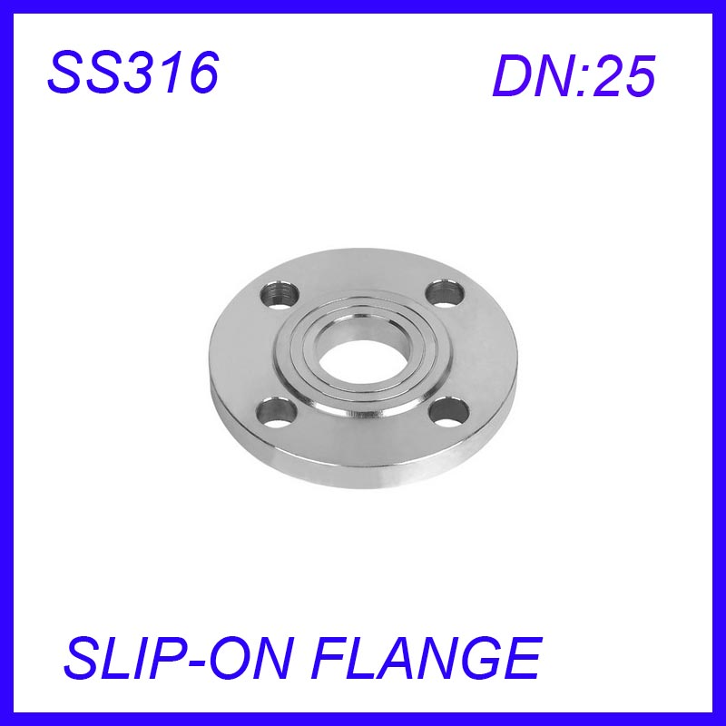 DN25 Stainless Steel SS316L  RAISED FACE 4-Bolt SLIP-ON FLANGE IndustrialDN25 Stainless Steel SS316L  RAISED FACE 4-Bolt SLIP-ON FLANGE Industrial