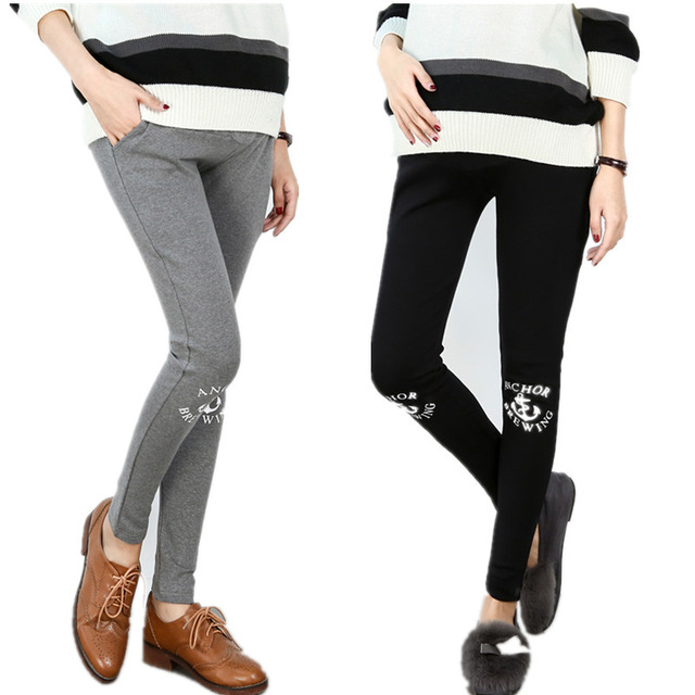 e29ba7519 Primavera invierno mujeres embarazadas delgadas Leggings cintura elástica  Maternidad Pantalones caliente ropa embarazada para mujeres embarazadas