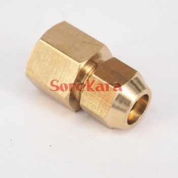 Flare Tube OD 8mm x M12x1.25mm female Brass Flare Male Connector Tube Pneumatic Fitting with Short Flare Nut фото