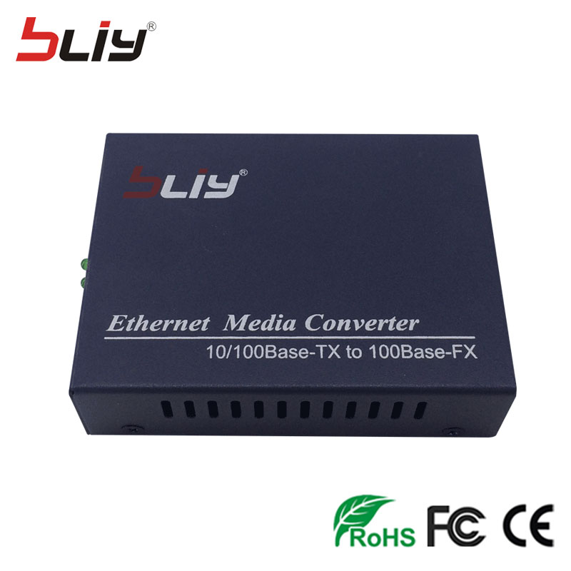 Fiber Optical Communication Equipment 10/100Mbps Media Converter Fast Ethernet fiber optic transceivers 100Mbps SC port 20KM