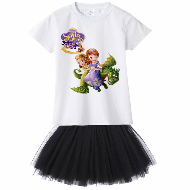 Baby Girl Dress Princess Sofia Ivy Rapunzel Costume Girls Kids Birthday Party Fancy Toddler Clothing