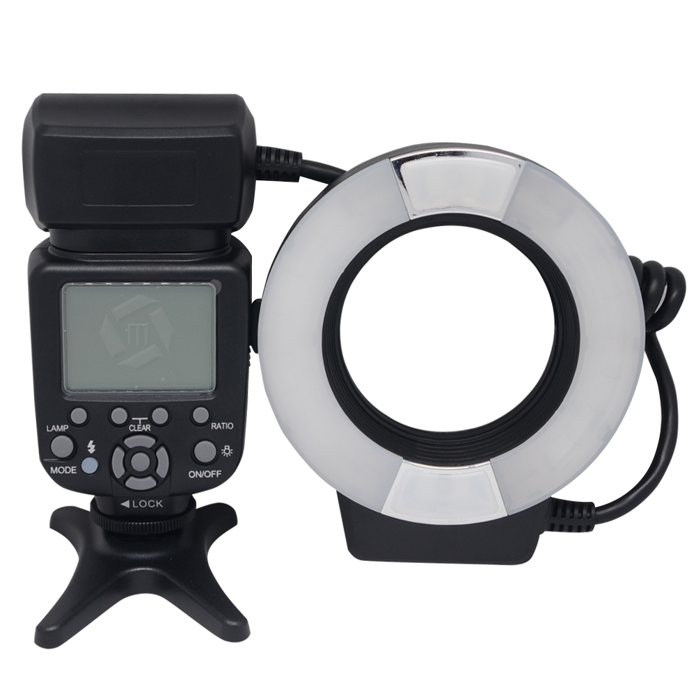 Mcoplus MCO-14EXT TTL Macro LED Ring Flash Light with AF Assist Lamp for Canon 760D 700D 650D 600D 70D 60D 7D 6D 5D Mark ii iii kolivar aputure hc100 led marco ring light video flash light for canon 5d mark ii iii 5d2 7d 6d 70d 700d 650d 60d 600d camera