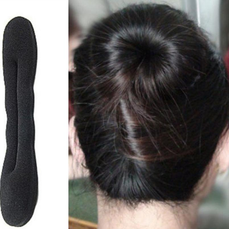 Women's Hair Device Donut Magic Foam Sponge Hairdisk Quick Messy Bun Updo   Headwear   Maker Ring Tool
