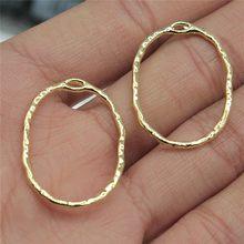 Wysiwyg 10 pçs 22x30mm oval encantos pingente para fazer jóias de alta qualidade kc ouro cor liga encantos para brinco fazer