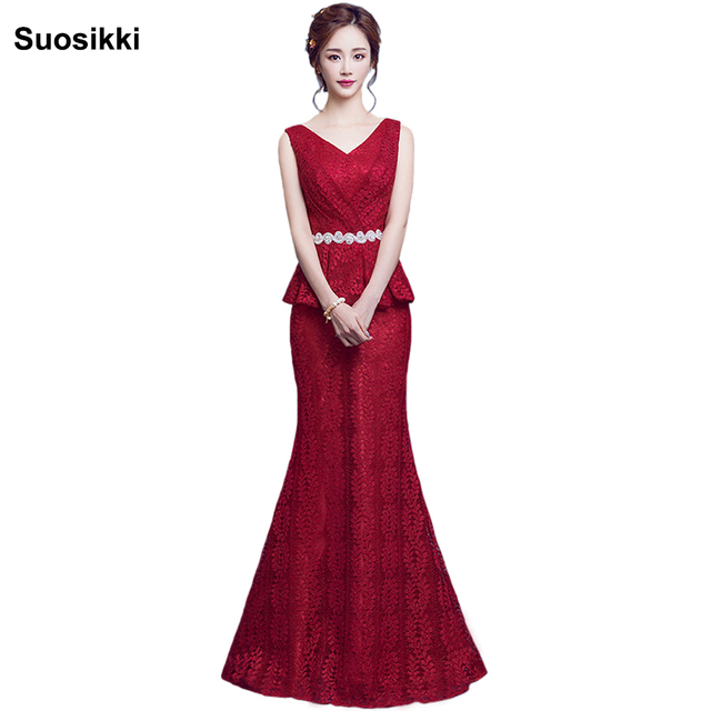 Suosikki Lace Mermaid Prom Dresses Long 2017 EP08838 Fashion Small ...