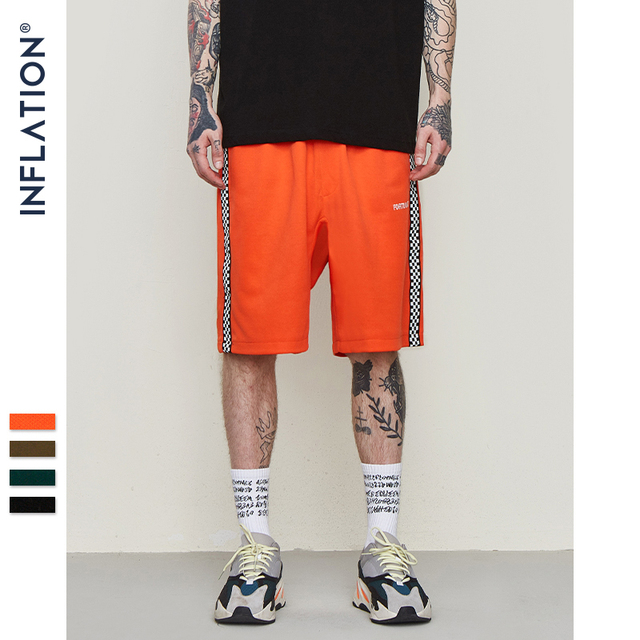 ac413f822 INFLATION Mens Sportswear Shorts Side Stripe Contrast Color High Street  Vintage Shorts Men Loose Cross Shorts 8409S