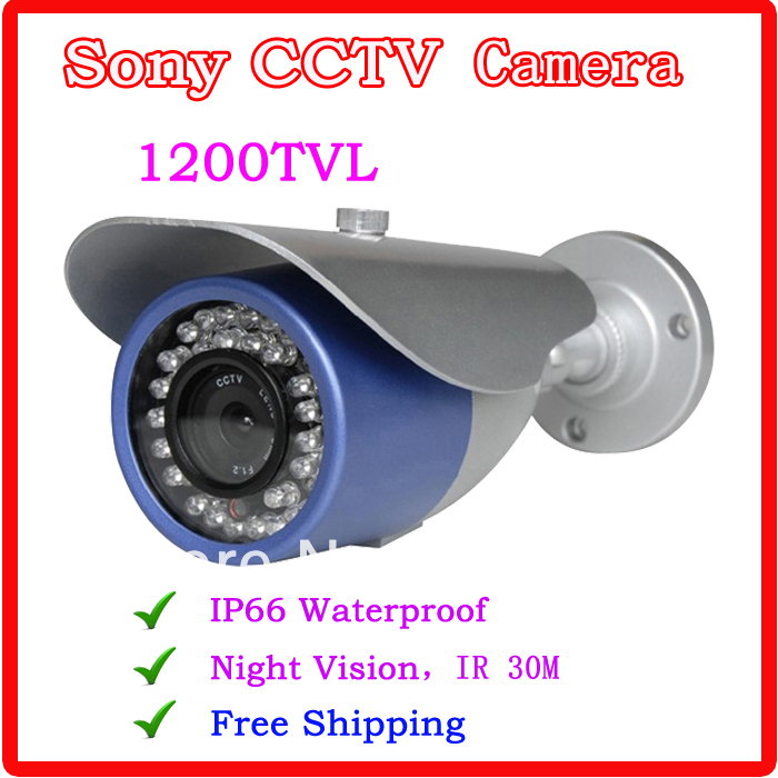 Free shipping 2016 NEW 1/3 SONY CCD HD 1200TVL Waterproof Outdoor security camera IR 30meter CCTV Camera