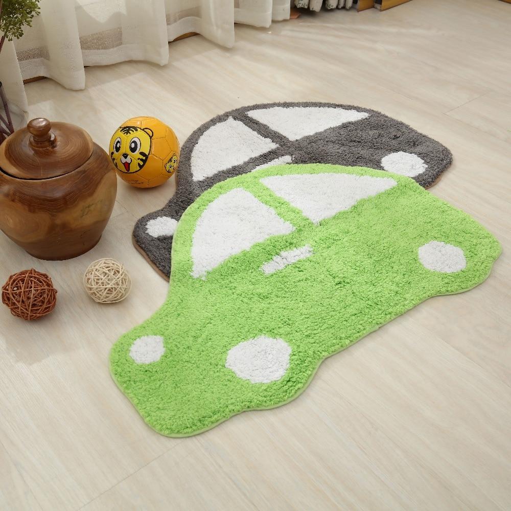 60X80 CM bande dessinée voiture paillasson enfants chambre tapis et tapis anti-dérapant salle de bain tapis absorber l'eau tapis de cuisine enfants jouer tapis