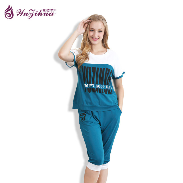 f51d5f4a637a 2017 New Summer Pajamas For Women Cute Pijama Feminino Panada Pijamas Pyjamas  Sleepwear Pyjama Femme Short Sleeve Pijama Mujer