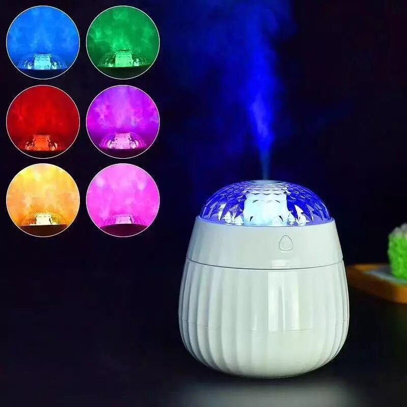 Ultrasonic Air Humidifier Essential Oil Diffuser LED Lights Electric Aromatherapy USB Projection Humidifier Car Aroma Diffuser mini essential oil aromatherapy diffuser electric car aroma diffuser usb air humidifier purifier led mini air humidifier usb