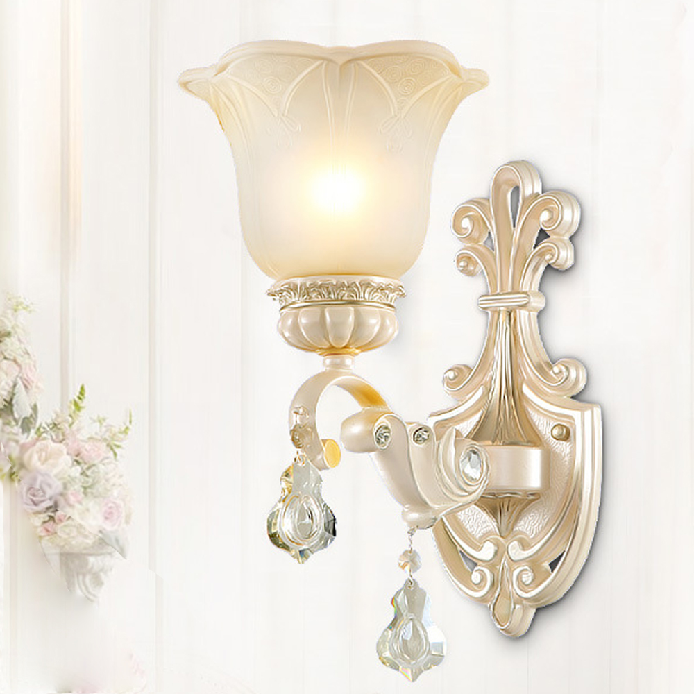 European style led wall lamp Crystal pendant vintage wall sconces Glass lamp LED warm bedroom staircase lighting garden lights European style led wall lamp Crystal pendant vintage wall sconces Glass lamp LED warm bedroom staircase lighting garden lights