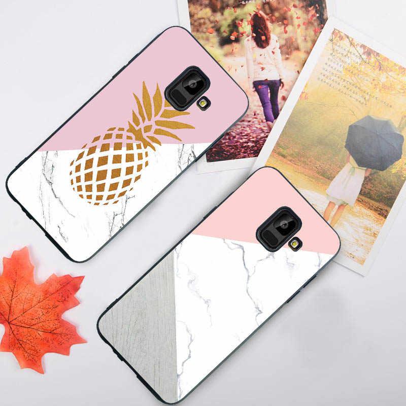 Dla Samsung uwaga 8 9 obudowie/etui do Samsung A8 plus A5 A6 A7 2018 A750 A3 A5 A7 2017 marmuru wszechświat przestrzeń kwiat miękkie przypadku Funda Coque