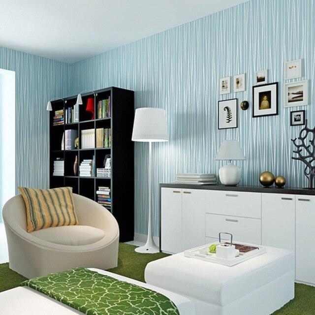 غير المنسوجة الأزياء رقيقة يتدفقون العمودي المشارب خلفية ل غرفة المعيشة أريكة خلفية ورق الجدران المنزل 3d الأزرق الأبيض