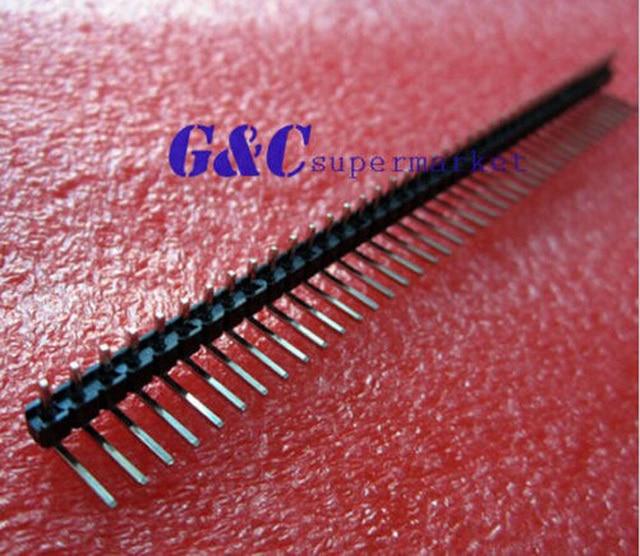 10pcs 1x40 Pin 2.54mm Right Angle Single Row Male Pin Header Contor