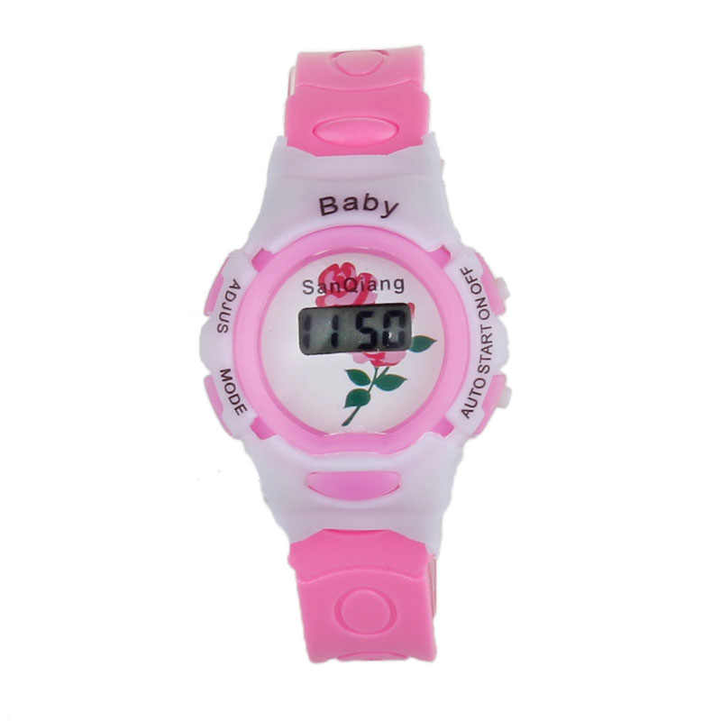 kid watch children Colorful Boys Girls Time Electronic Digital Wrist Sport Watch (random pattern) d90312