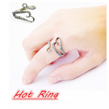 1PC Fashion Punk Style Titanium Steel Unisex Silvery Boys and Girls Octopus Devilfish Rings Jewelry