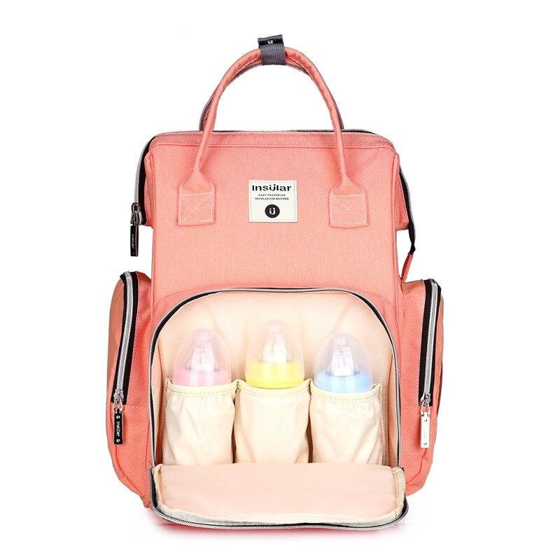 2018 moda mamá maternidad pañal bolsa de gran capacidad bolsa de viaje mochila Desinger bolsa de enfermería para cuidado del bebé mochila