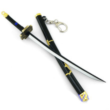 Anime Weapon model One Piece Roronoa Zoro Katana Sword 22 cm Art Metal Key Chain