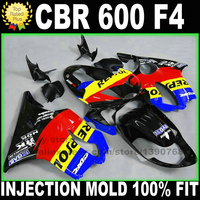 INJECTION molding kits for HONDA CBR 600 F4 fairings 1999 2000 CBR600 99 00 black red REPSOL fairing kit plastic parts H8