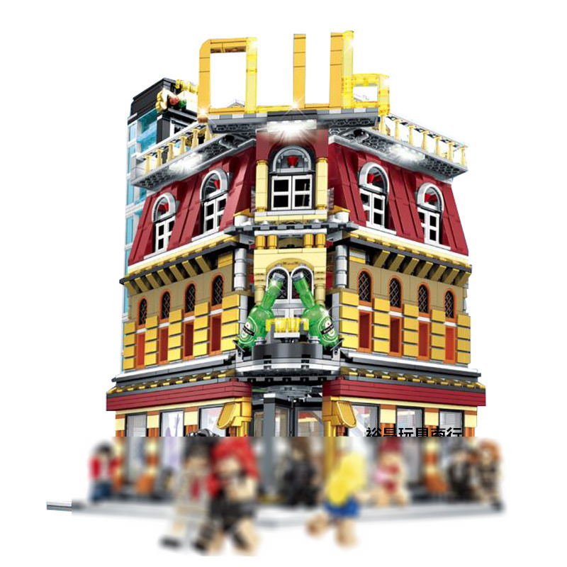 2017 NEW 2488Pcs City series LED nightclub club Model Building Kits Blocks Bricks Toys For Children Gift Compatible With 10182 10646 160pcs city figures fishing boat model building kits blocks diy bricks toys for children gift compatible 60147