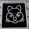 Full Clear Austria Crystal Cat Brooch Pin Up Jewelry For Women Brooches Wedding Accessories Broche Broches mujer Christmas Gifts