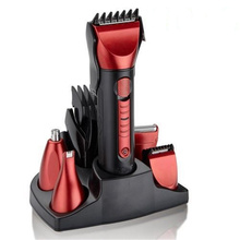 Hot Sale 5in1 Waterproof Rechargeable Hair Beard Clipper kit Haircut Tools Scissors Electric Shaver Razor Nose Ear Clean For men