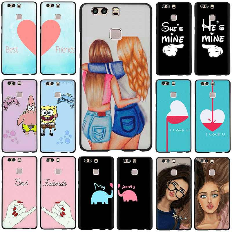 We will always be best friends BFF Soft TPU Silicone phone cover case for Huawei P8 P9 P10 P20 P30 Pro Lite Mini P Smart