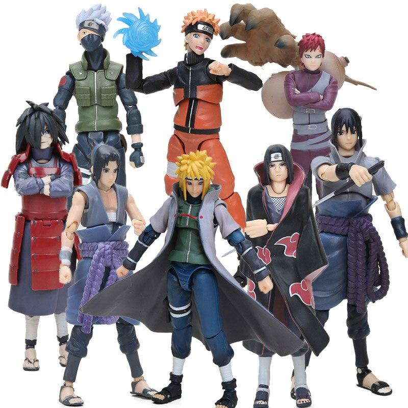 15cm Box Figurine Sasuke Naruto Namikaze Minato Hatake Kakashi Action Figures Naruto Collectible Figure Toys Brinqudoes Bebe