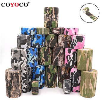 4.5m Camouflage Elastic Wrap Tape Hunt Disguise Elastoplast Self Adhesive Sports Protector Knee Finger Ankle Athletic Bandage - discount item  41% OFF Sportswear & Accessories