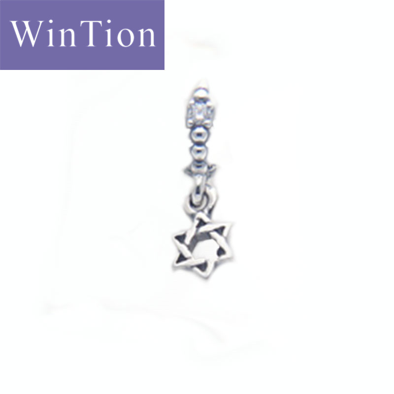 WinTion PAN100% Silver 925 Necklace Pendant Classic Hexagon Female Necklace String Valentine's Day Christmas Gift