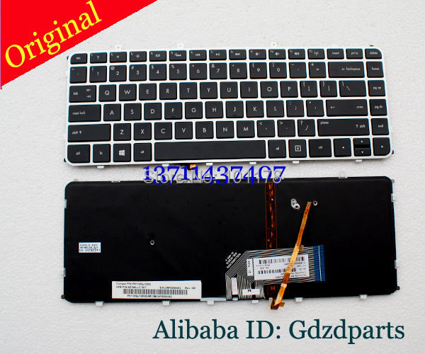 Orig Backlit US Version Laptop Keyboard With Frame For HP Envy 4 Envy 6  4-1000 4-1100 4-1200 6 6-1000 6-1100 6-1200 M4 M4-1000 laptop keyboard for asus ux51 ux51vz 9z n8bbu h01 with us version