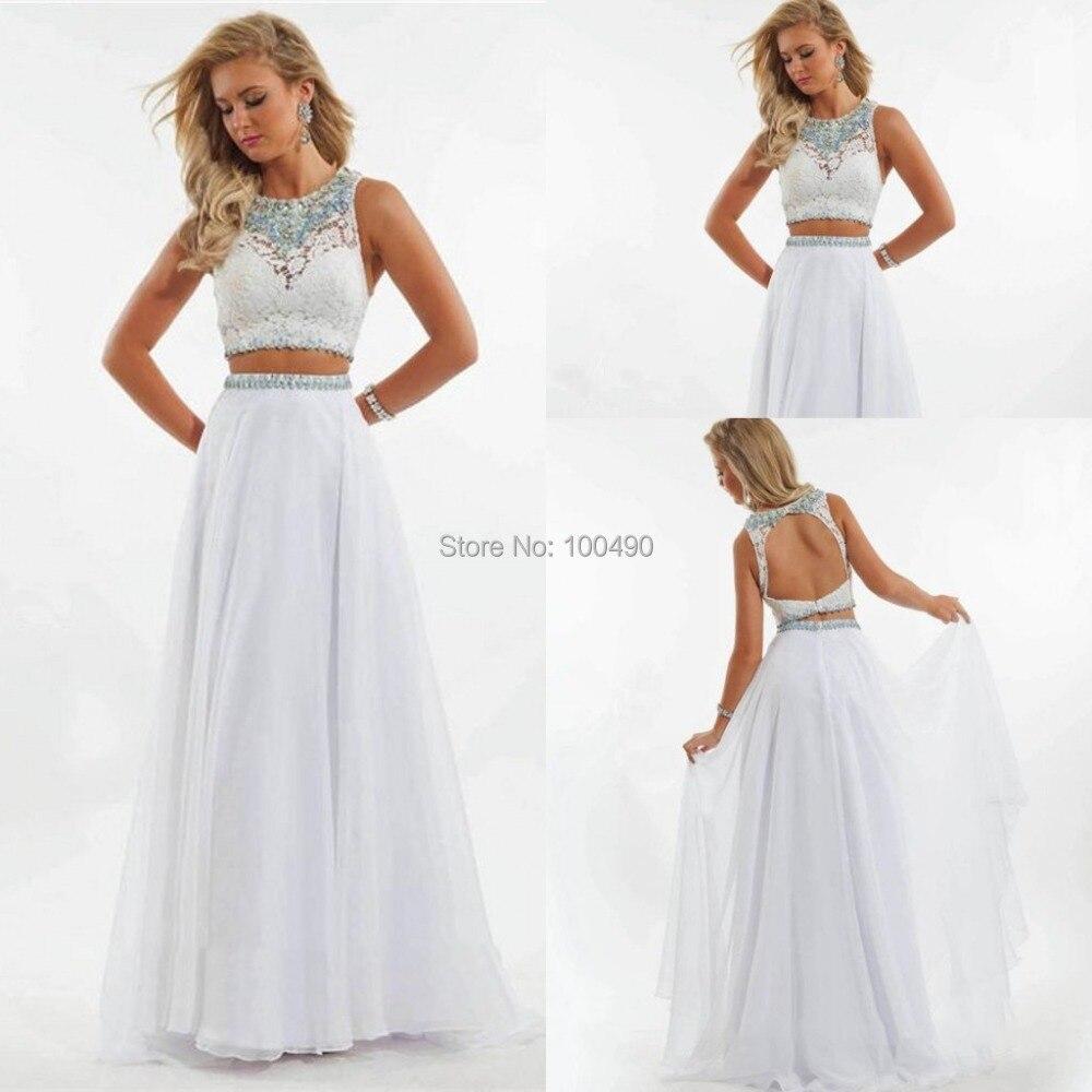 b57c1a69fc5 White 2 Piece Formal Dresses